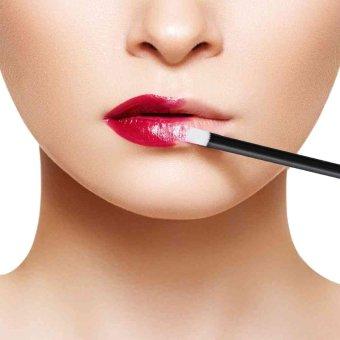 Huamianli 100pcs Disposable Cosmetic Lip Brush Lipstick Gloss Wands Applicator Makeup Tool - intl