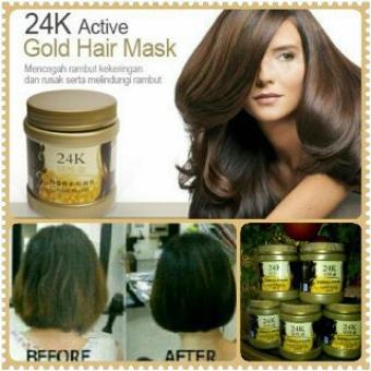 24K Active Gold Hair Mask - Masker Rambut 500ml