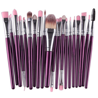 Professional 20Pcs Makeup Brush Set Wool Brand ZY - intl