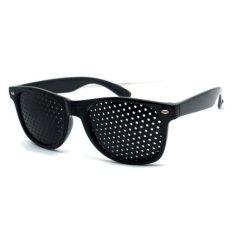 Kacamata Terapi Mata Vision Pinhole - Hitam