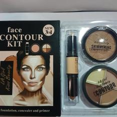 Kiss Beauty Contour Palette Shimmer Highlighter 3in1 - Set A