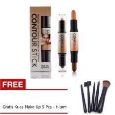 Kiss Beauty Contour Stick 2in1 Concealer + Gratis Kuas Make Up 5 - Hitam