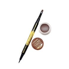 Landbis Eyebrow Gel 3 In 1 / Eyeliner & Brush #2 - Dark Brown