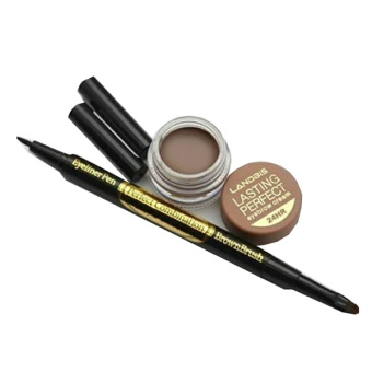 Landbis Eyebrow Gel 3 In 1 Eyeliner & Brush No. 03 - Natural Brown - 3 Pcs