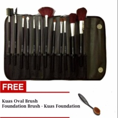Lucky Kuas Make Up - 12 Pcs + Free Kuas Oval - 1 Pcs