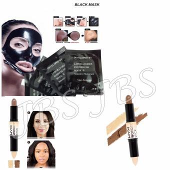 Mask Black Masker Pengangkat Komedo Isi 10 Sachet Stick Wonder Face Countouring .