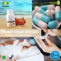 Tiens Masker Chitosan Herbal - Paket 25 Kapsul (Gratis Kuas) · masker wajah chitin