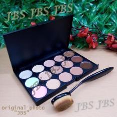 Mn Menow-Pro 15 Color Contour Cream Series - Kuas Oval Brush - Foundation Brush