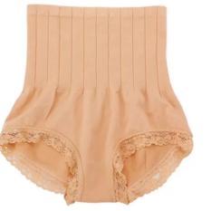 Munafie Slim Pant Korset Japan Pelangsing Celana  (allsize) - Coklat