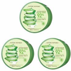 Nature Republic Aloe Vera 92% Soothing Gel 300ml - 3 Pcs