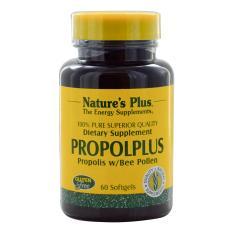Nature's Plus Propolplus Propolis With Bee Pollen 60's - Propol Plus, Antibiotik Alami, Sinusitis, Meningkatkan Daya Tahan Tubuh, Stamina