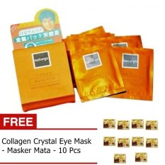Naturgo Masker Lumpur - 10 Pcs + Gratis Collagen Crystal Eye Mask -10 Pcs