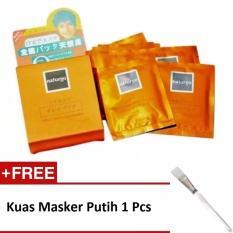 Naturgo Masker Lumpur - 10 pcs + Gratis Kuas Masker Putih 1 Pcs
