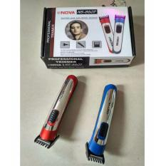 NOVA NS 8607 ALAT CUKUR RAMBUT ELEKTRIK HAIR CLIPPER TRIMMER KUMIS WIG SALON HAIR STYLE - MERAH