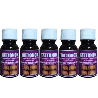 Obat Herbal Penghilang Tatto Permanen 5 Botol Tattonox Original Aman dan Bergaransi