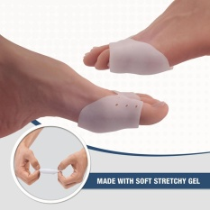 One Pair Half Toe Sleeve Metatarsal Pads - Bunion & Forefoot Cushioning - 2 Pieces - Prevent Calluses and Blisters - For Men and Women - intl