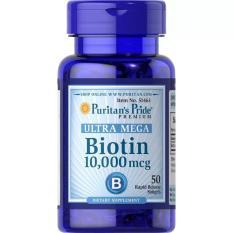 Puritan Pride Biotin 10,000 mcg Puritan's Pride Vitamin Penumbuh Rambut & Bulu
