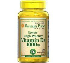 Puritan Pride Vitamin D3 1000 IU - 100 Softgels