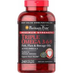 Puritan's Pride Maximum Strength Triple Omega 3-6-9 - 240 Softgels