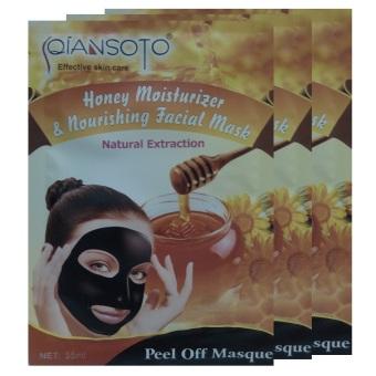 Qiansoto Masker Wajah Alami Madu 3pcs