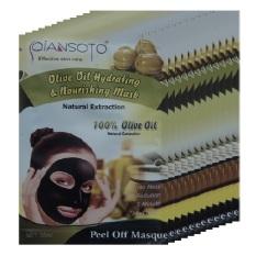 Qiansoto, Masker Wajah Alami, Olive, 12pcs