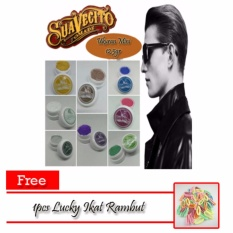 Suavecito Pomade Hair Clay 12,5gr - Purple + Free 1pcs Lucky Ikat Rambut