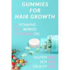 ... Permen Gum Vitamin Supplement Source Sugar Bear Hair Vitamin untuk Rambut Panjang dan Halus bentuk Gummy