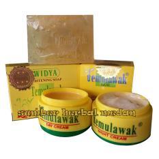 Temulawak Cream Day & Night Plus Sabun Widya Aloe Vera Hologram Emas Besar