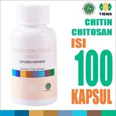 Tiens Chitin Chitosan Capsules - Detox Herbal Pelangsing Tianshi Ori - Masker Perawatan Kulit Berminyak - 1 Botol isi 100 Kapsul