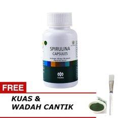 Tiens Masker Spirulina Herbal - Paket 100 Kapsul + Gratis Kuas + Wadah