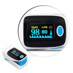 Ujung jari pulsa oksimeter saturasi oksigen darah SPO2 PR memantau Oxymeter Biru
