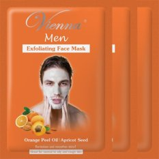 Vienna Men Exfoliating Face Mask - Orange Peel Oil & Apricot Seed (3pcs)