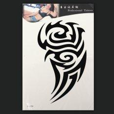 ... Waterproof Totem Grafis Tubuh Seni Tato Sementara Lengan Kaki Stiker Yang Dapat Dilepas