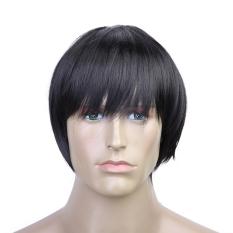 Wig cosplay pendek pria - hitam