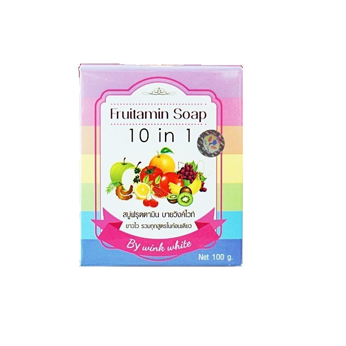 Wink White Fruitamin Soap 10 in 1 - 100gr