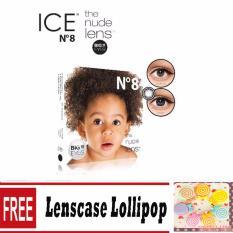 X2 Ice Nude N8 Softlens - Black + Free Lenscase