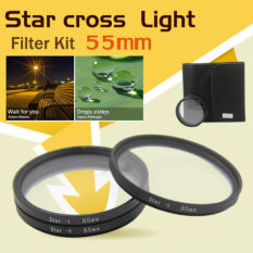 55mm 4 6 8 Point Star Filter Kit 4.6X 8X Star Filter Kit With Free Case