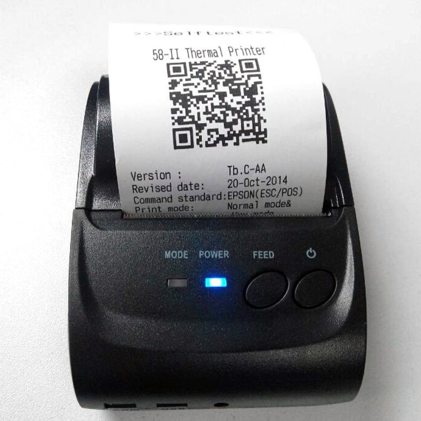 58mm Mini Portable Thermal Printer Receipt POS-5802DD for Windows Android IOS Smartphone with Bluetooth 4.0 4.3