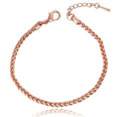 5mm White Rose Gold Filled Bracelet Snail Chain Bracelet Womens Mens Chain Bracelet - Intl