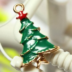5pcs Gold Enamel Christmas Xmas Gifts Snowflake Charm Pendants Jewelry Findings Large Christmas Tree