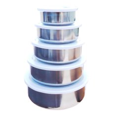 5Pcs Set 5 In 1 Stainless Steel Food Container Preservation Box (Silver)