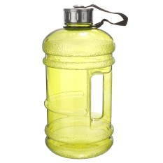 2,2 Liter (setengah galon) 1814,37 G bebas BPA botol air besar Gym pelatihan menangani kuning