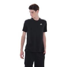 Adidas Essentials 3-Stripes Tee - Hitam