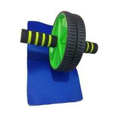 Anekaimportdotcom Fitness Double Wheel Dual Roller Exercise Gym Body Slim / Fitnes Double Wheel- Hijau