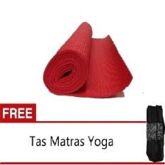 Anekaimportdotcom Matras Yoga 6mm - Merah + Gratis Yoga Bag