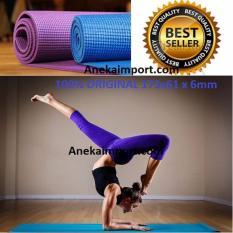 Anekaimportdotcom Matras Yoga, Yoga Mat, Matras Yoga Murah (Gratis Tas) - Ungu
