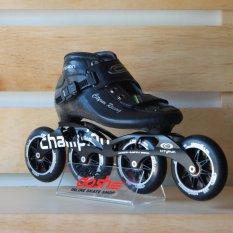 Cityrun Skate Sepatu Roda Champion Inline Speed 100 MmFullset Hitam Size