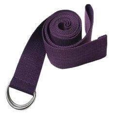 Cocotina Sabuk Pinggang Latihan Kebugaran Tubuh Kaki Ruang Olahraga Yoga Peregangan Tali Pengikat (Ungu)
