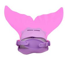 Comfortable Adjustable Kids Swimming Fins Training Flipper Mermaid Tail (Pink) - Intl