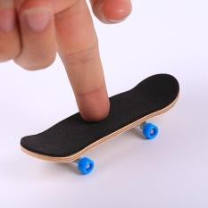 Creative Complete Wooden Fingerboard Finger Skate Board Grit Box Wood Colours - intl